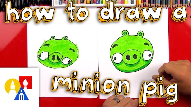 How To Draw A Minion Pig From Angry B...