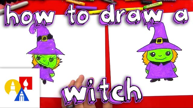 How To Draw A Cartoon Witch