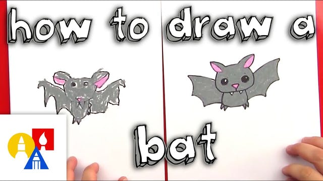 How To Draw A Cartoon Bat