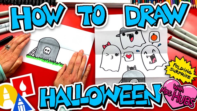 How To Draw A Halloween Folding Surprise With Ghosts