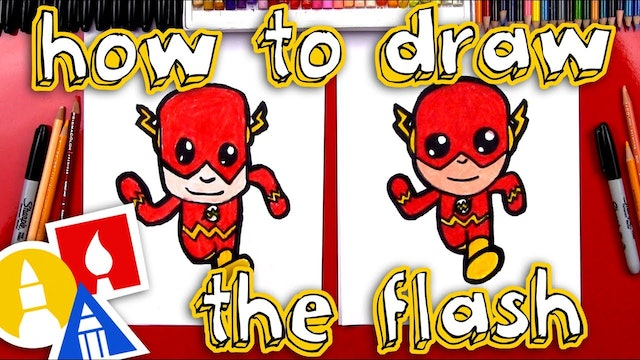 How To Draw The Flash Cartoon