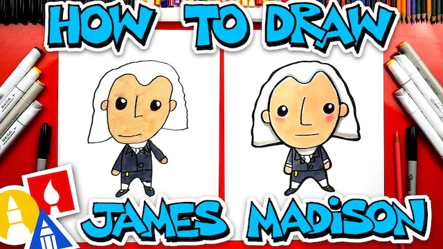 How To Draw James Madison - Happy Pre...