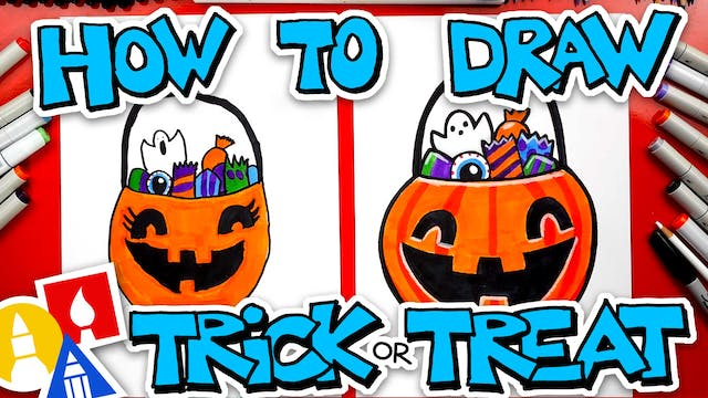 How To Draw A Halloween Trick or Trea...