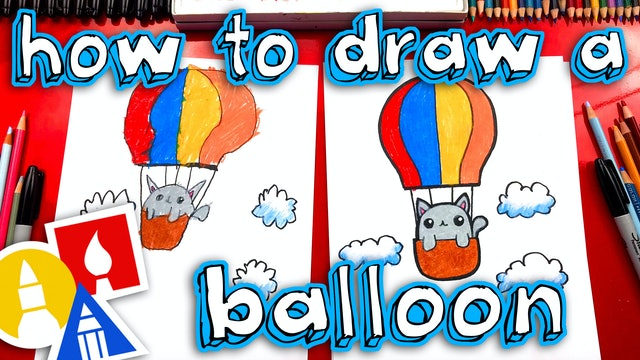 How To Draw A Lost Kitten In A Hot Air Balloon