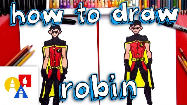 How To Draw Robin From Young Justice