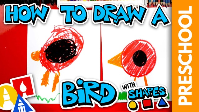 Drawing A Bird With Shapes - Preschool