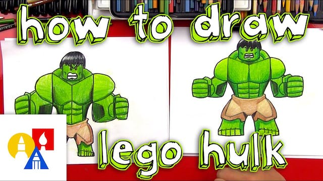 How To Draw Lego Hulk