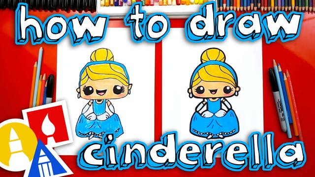 How To Draw Cute Cinderella