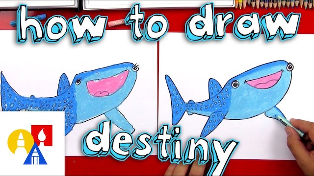 How To Draw Destiny From Finding Dory