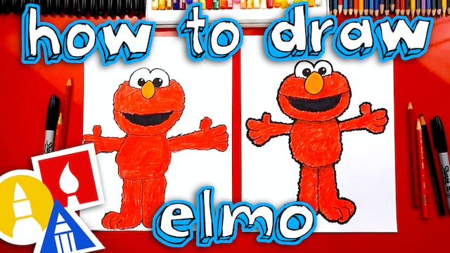 How To Draw Elmo From Seasame Street