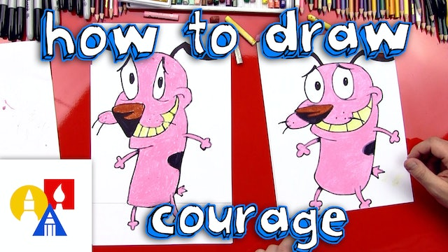 How To Draw Courage The Cowardly Dog