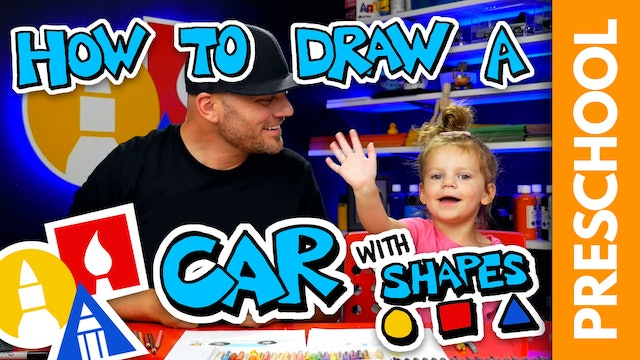 Drawing A Shape Car With Olivia Rectangle And Circle - Preschool