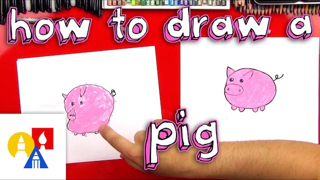 How To Draw A Pig For Young Artists