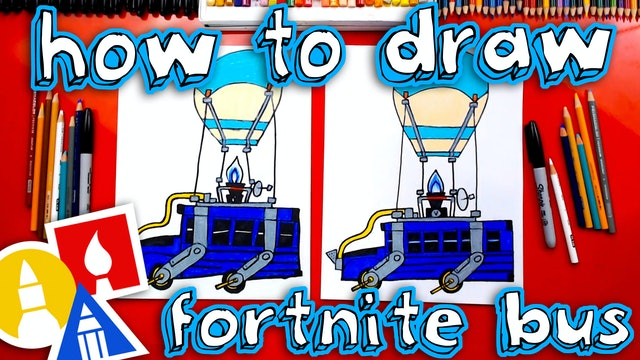 How To Draw The Fortnite Bus