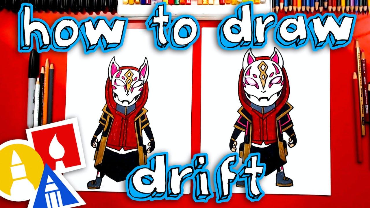 How To Draw Drift From Fortnite Art For Kids Hub