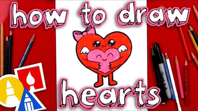 How To Draw Two Hearts For Valentines Day