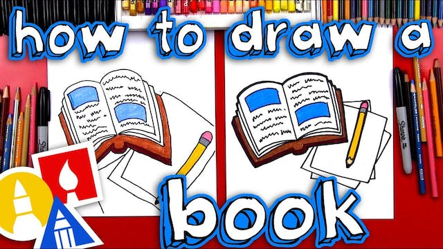How To Draw A Book And Pencil