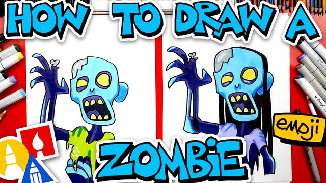 How To Draw The Facebook Zombie Emoji