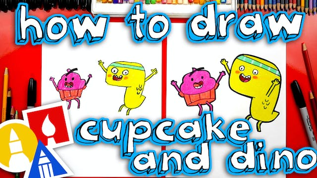 How To Draw Cupcake And Dino General ...