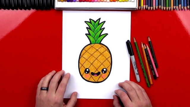 How To Draw A Cartoon PIneapple