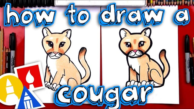 How To Draw A Cartoon Cougar