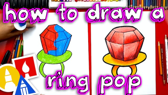 How To Draw A Ring Pop