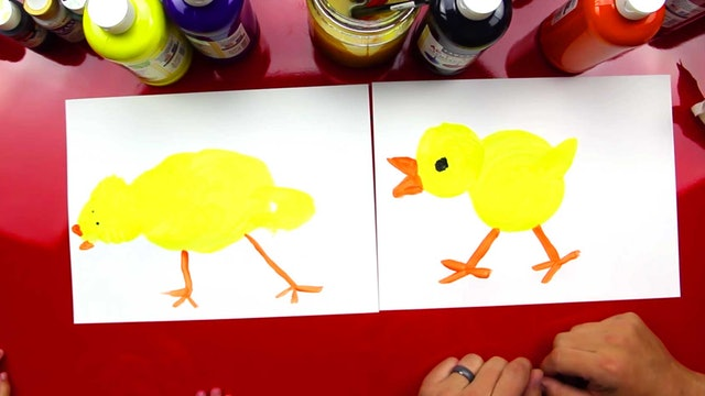 How To Paint A Baby Chicken