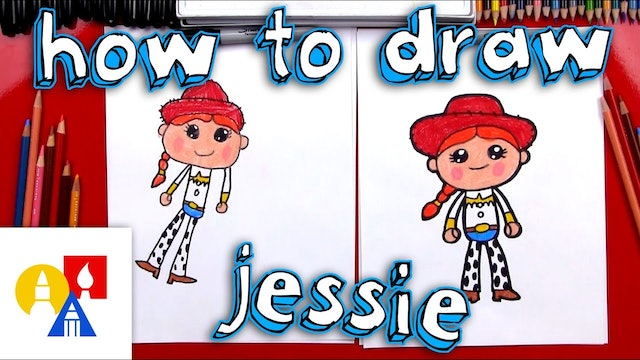 How To Draw Cartoon Jessie From Toy Story