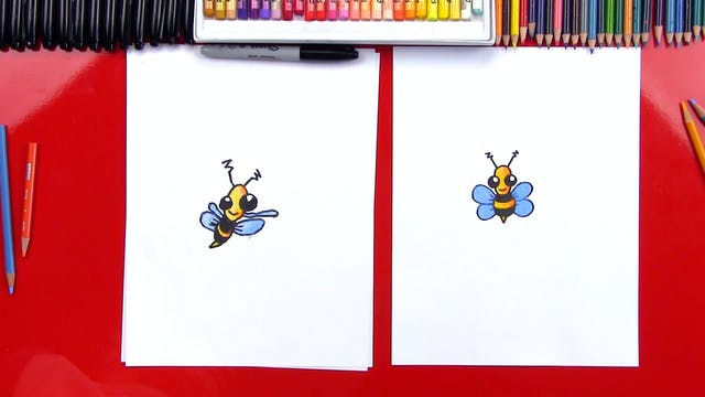How To Draw A Cartoon Bee