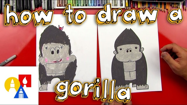 How To Draw A Cartoon Gorilla