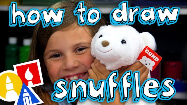 How To Draw Snuffles The Cutest Polar Bear