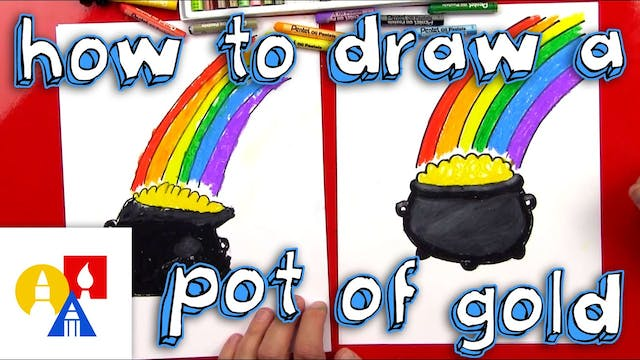 How To Draw A Pot Of Gold