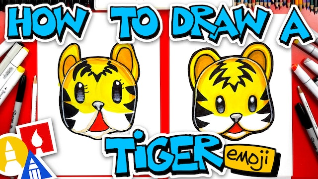 How To Draw A Tiger Face Emoji