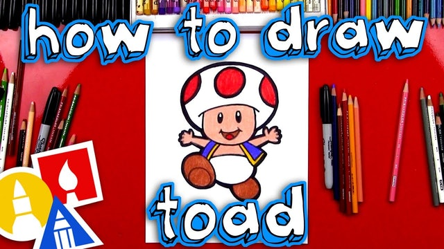 How To Draw Toad From Mario (With Body)