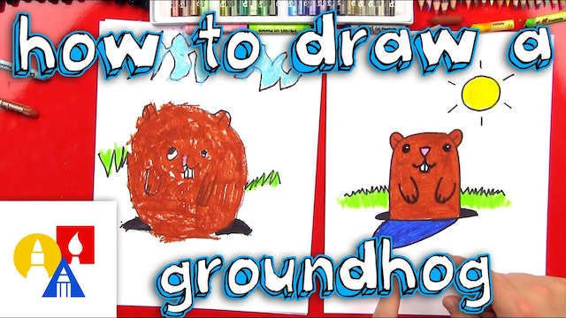 How To Draw A Groundhog