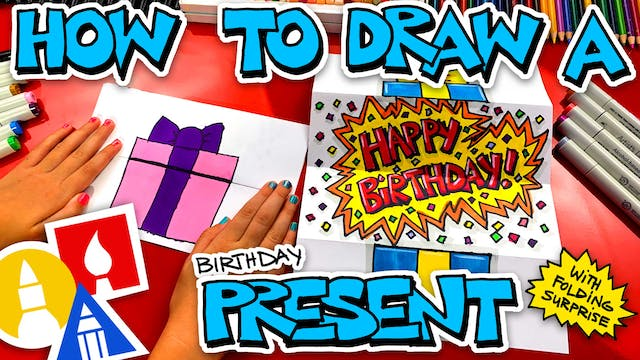 How To Draw A Birthday Present Foldin...