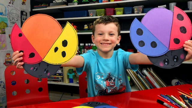 Primary and Secondary Color Art Activity - Ladybug