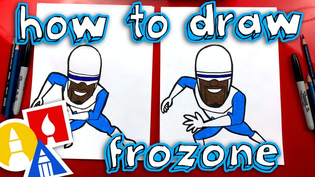 How To Draw Frozone From Incredibles 2