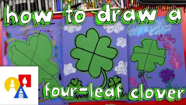 How To Draw A Four Leaf Clover