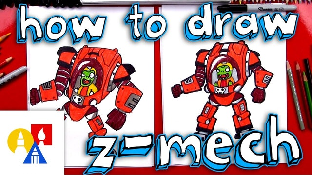 How To Draw Z-Mech From Plants vs Zombies