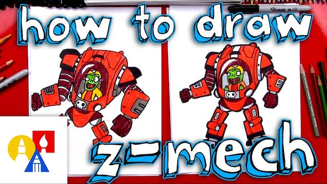 How To Draw Z-Mech From Plants vs Zom...