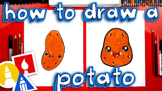 How To Draw A Funny Potato