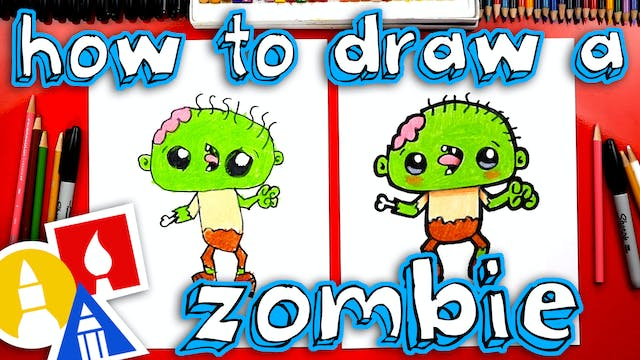 How To Draw A Funny Zombie