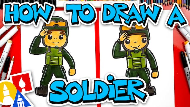 How To Draw A Soldier Saluting (Veter...