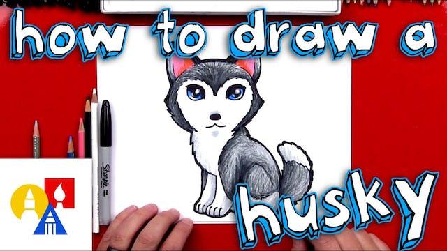 How To Draw A Cartoon Husky FINAL