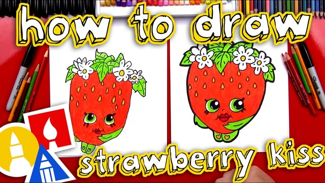 How To Draw Strawberry Kiss Shopkin