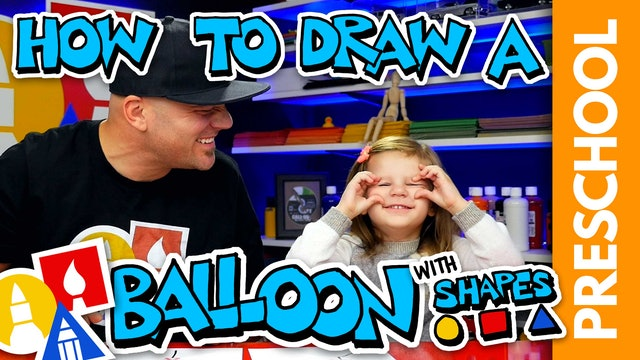 Drawing A Balloon With Shapes - Preschool