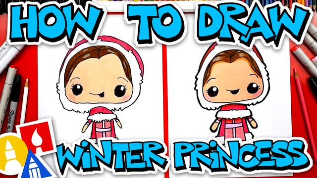 How To Draw Winter Princess Belle