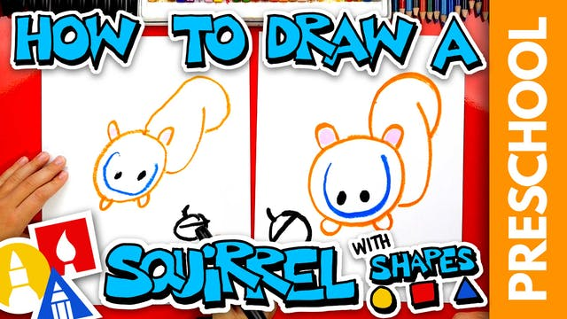 Drawing A Squirrel With Shapes - PRES...