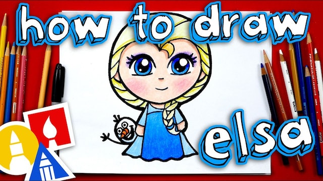 How To Draw Cute Elsa